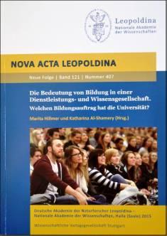 Cover der Publikation Die Bedeutung von Bildung in einer Dienstleistungs- und Wissensgesellschaft, die 2015 erschienen ist