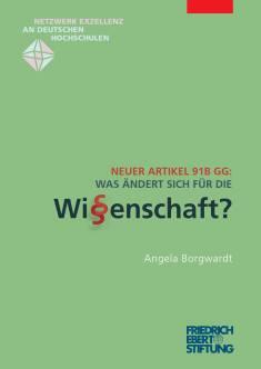Cover der Publikation Neuer Artikel 91b GG, die von Dr. Angela Borgwardt geschrieben wurde und 2015 erschienen ist.