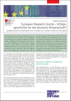 Cover der Publikation European Research Grants, die von Dr. Angela Borgwardt geschrieben wurde und in der Reihe Hochschulpolitik erschienen ist.