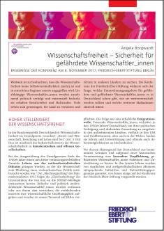 Cover der Publikation Wissenschaftsfreiheit, die von Dr. Angela Borgwardt geschrieben wurde und 2018 erschienen ist.