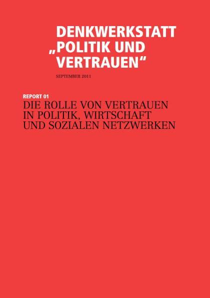 Cover der Publikation Politik und Vertrauen - Report 01