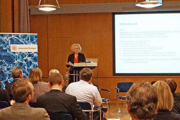 Angela Borgwardt . Einführungsvortrag Konferenz Hochschulverbünde und Wissenschaftsregionen